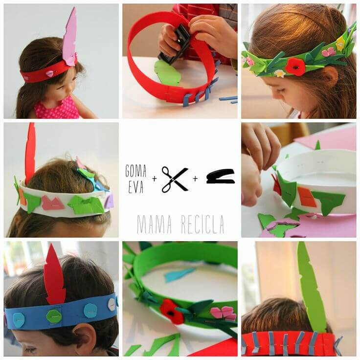 headbands and crowns from foam shees
