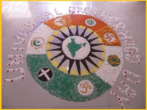 universal Brotherhood Day-RANGOLI-delhi