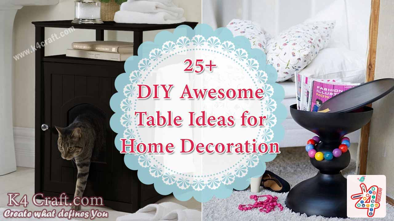 25 awesome table ideas for home decoration k4 craft for Diya decoration youtube