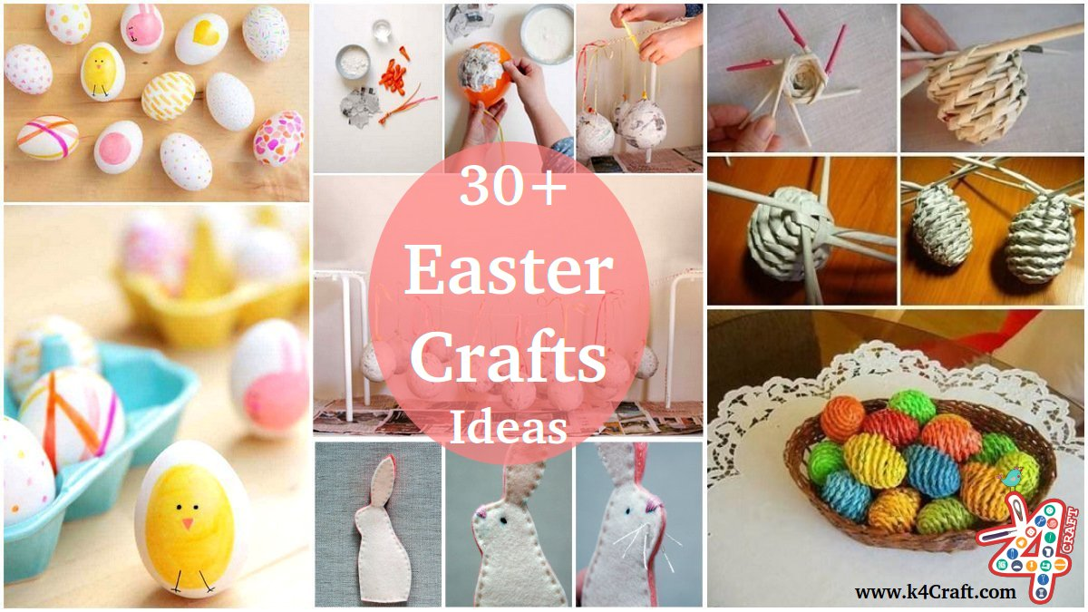 30 Diy Cute And Creative Easter Crafts For Kids K4 Craft