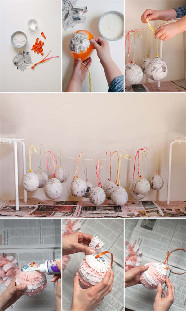 RECYCLED-PAPER-GLOBE-DECORATIONS-Easter-Crafts-for-Kids