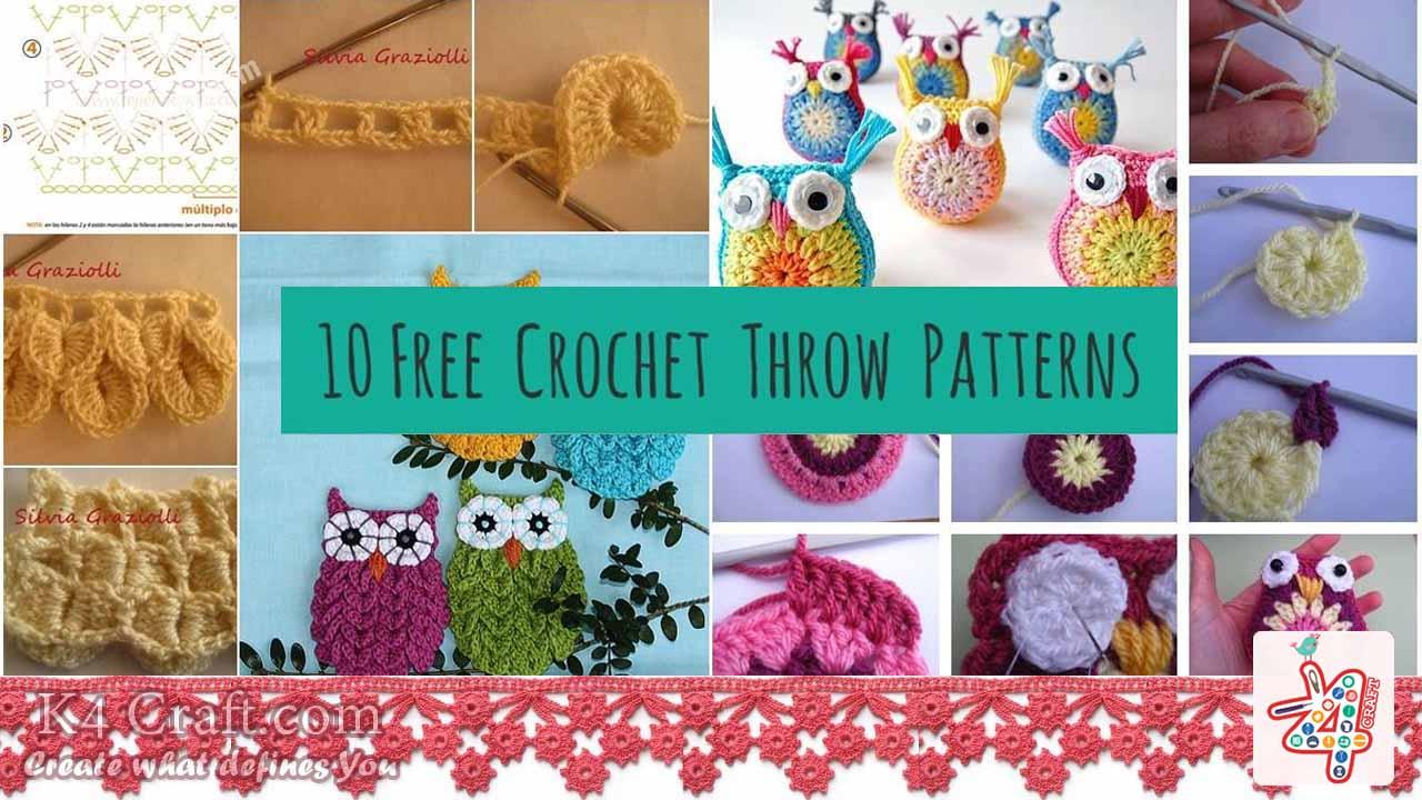 Step by Step Crochet Patterns Tutorials - K4 Craft
