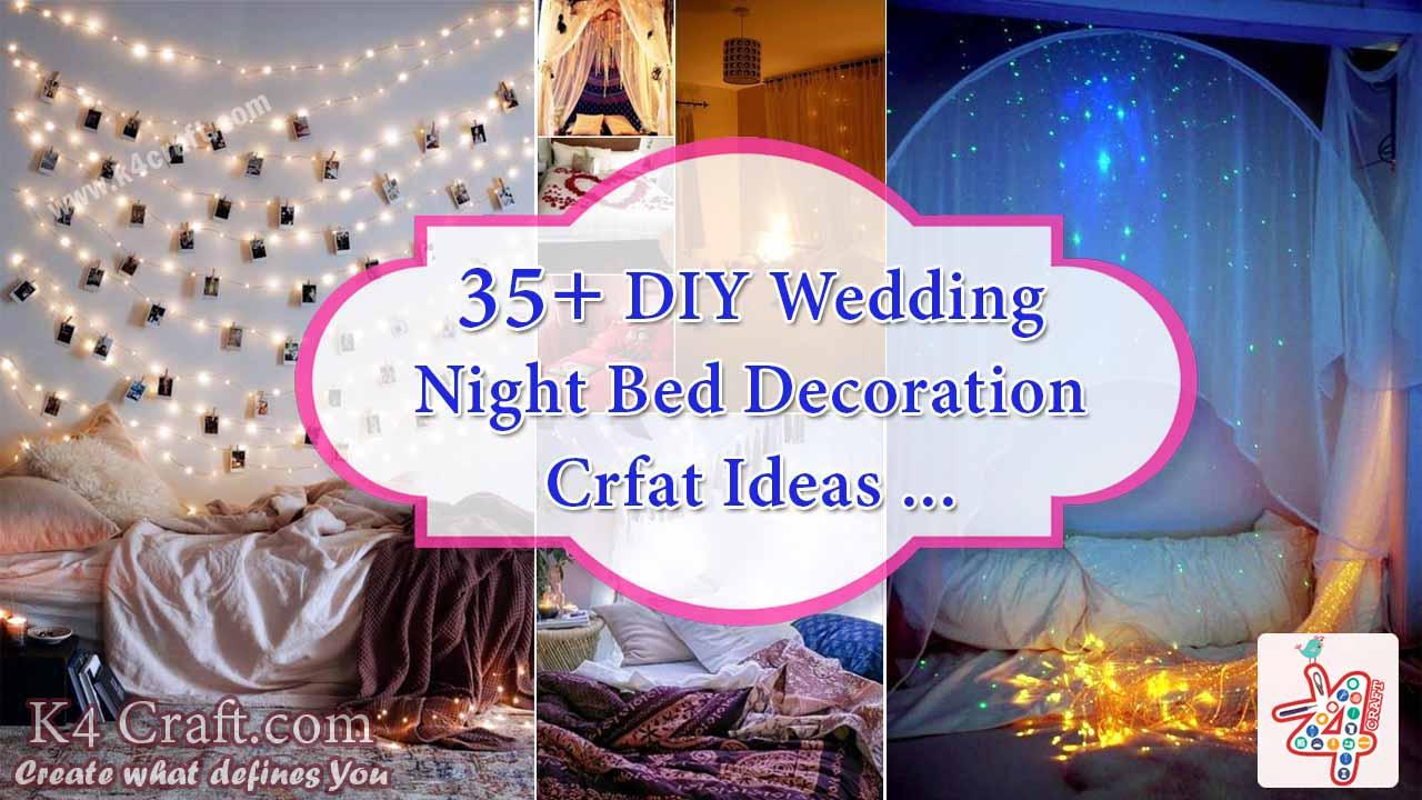 35 wedding night bed decoration ideas k4 craft for Bed decoration image for wedding night
