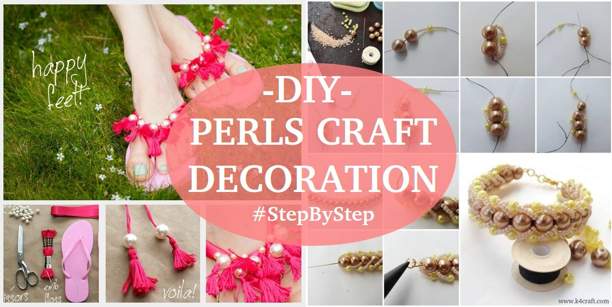 Diy pearls decorated craft projects step by step k4 craft for Pearl arts and crafts closing