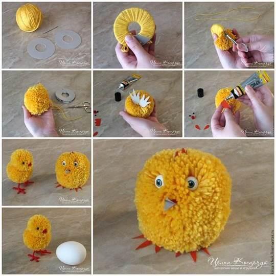 DIY-Cute-Pom-Pom-Easter-Chicks-k4craft