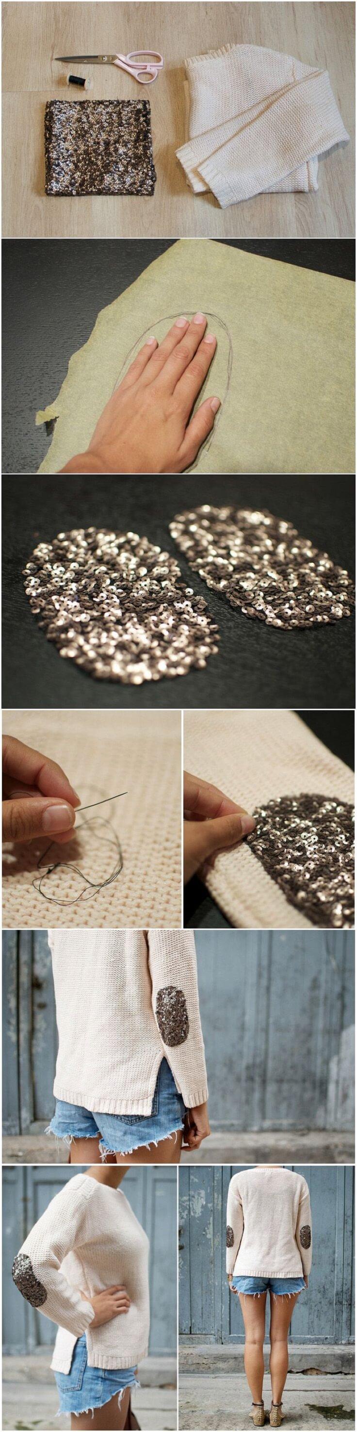 DIY-Glitter-Elbow-Patch-Sweater-k4craft