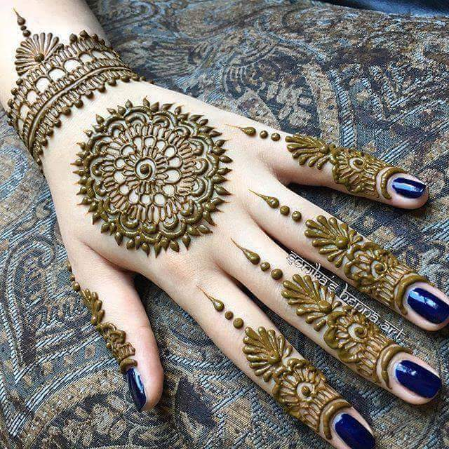 20 Beautiful and Easy Mehndi Designs - K4 Craft