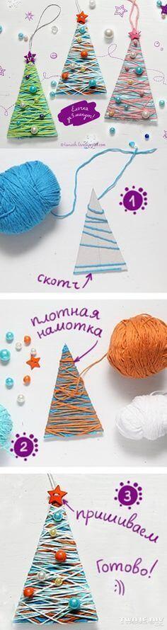 christmas-tree-yarn-decor-diy-craft