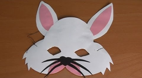 Handicraft-rabbit-mask