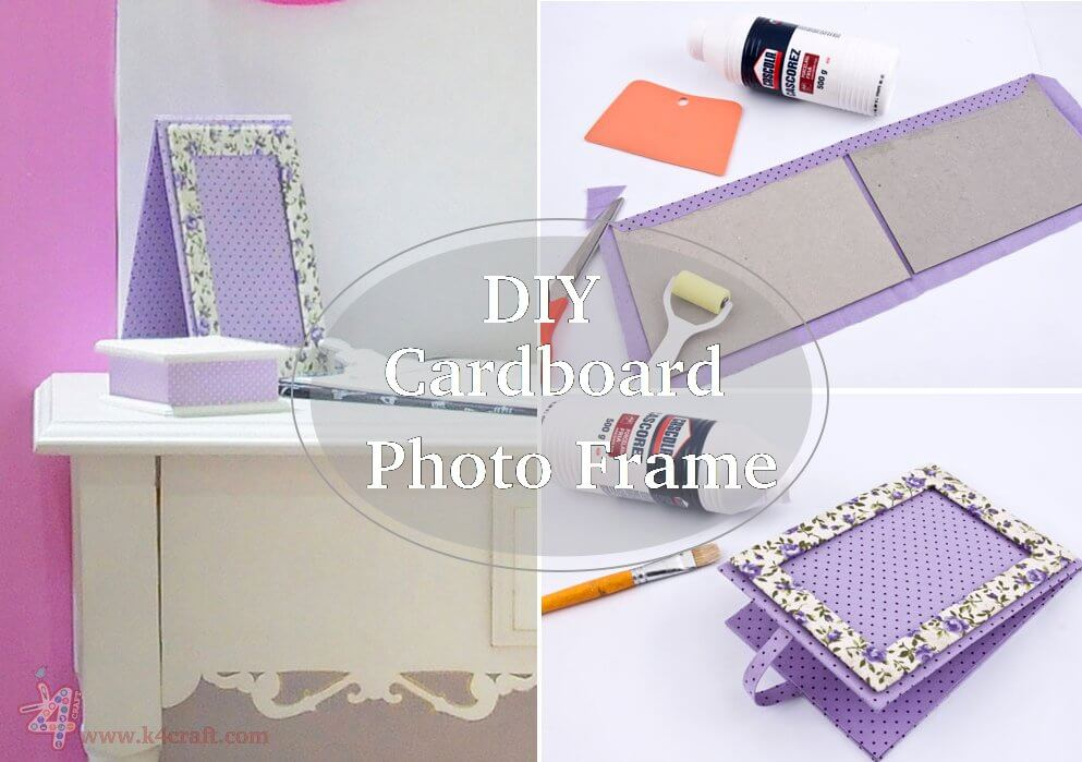 How to make a Cardboard Photo Frame (Tutorial) - K4 Craft