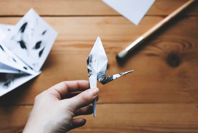 Origami-crane-and-twig-16