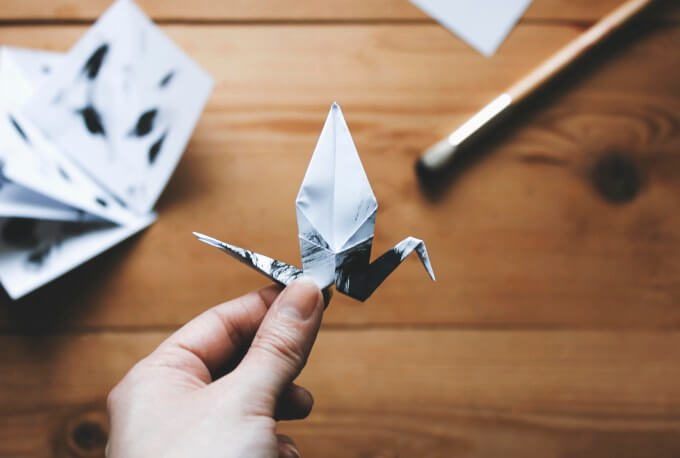 Origami-crane-and-twig-17