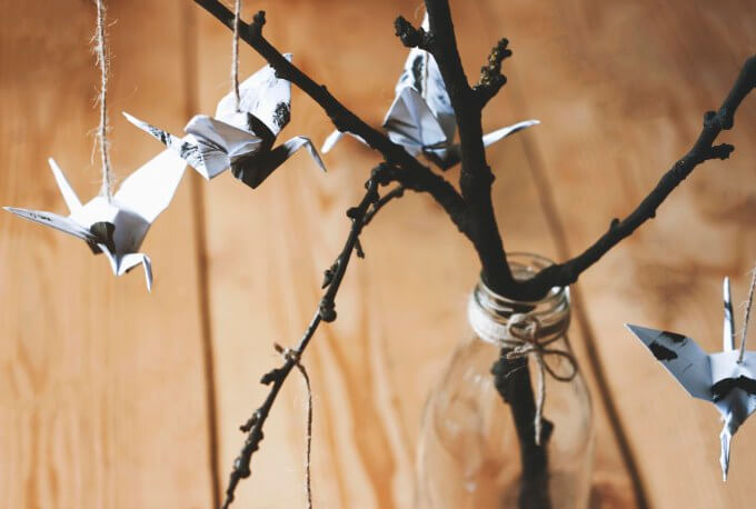 Origami-crane-and-twig-22