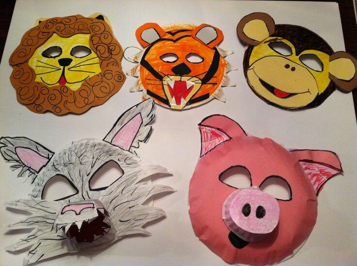 Diy Simple Animal Face Mask For Kids Tutorial K4 Craft