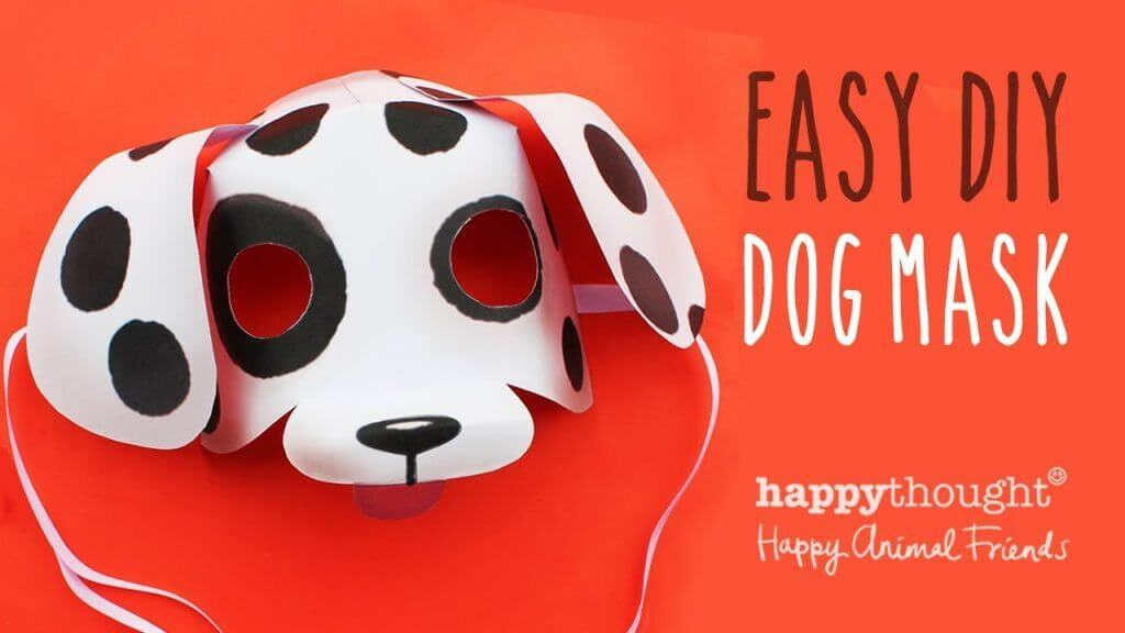 Diy simple animal face mask for kids tutorial k4 craft for Dog mask template for kids