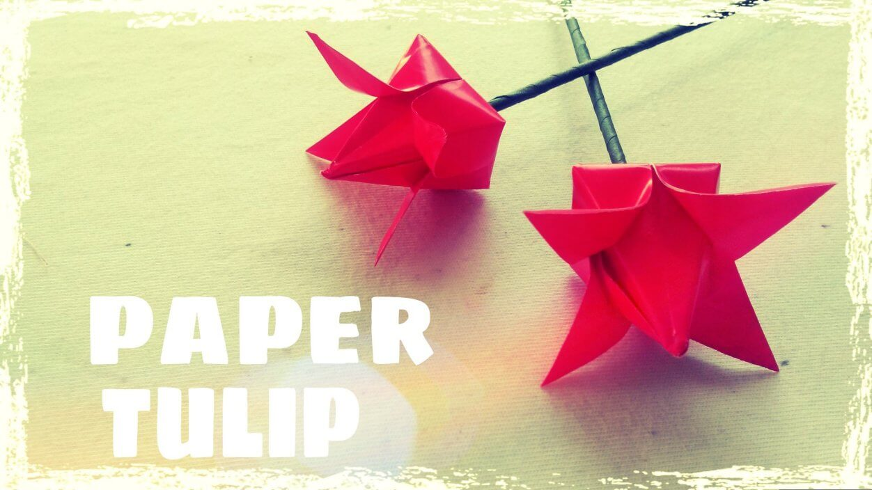 Easy origami tulip flower folding instructions step by step k4 craft easy origami tulip flower folding instructions step by step mightylinksfo