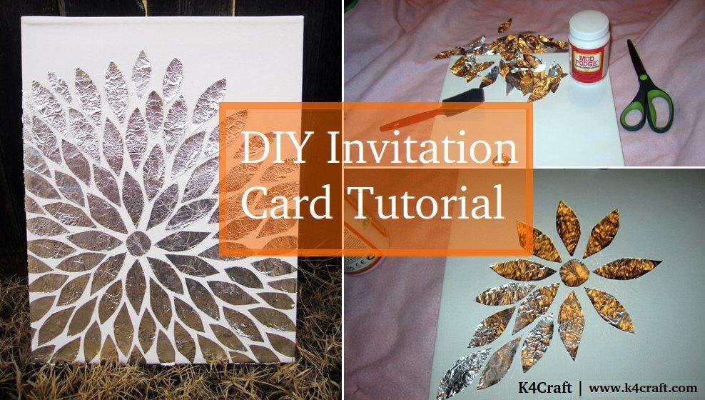 Diy Easy Invitation Card Tutorial K4 Craft