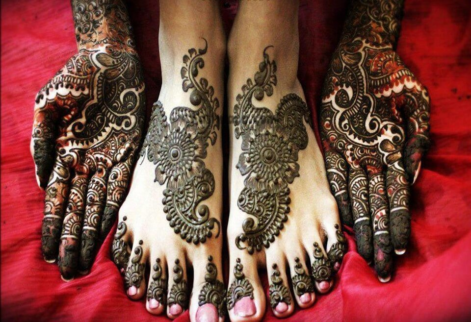 Mehndi Designs For Feet And Hands : Beautiful arabic mehndi designs full hands and feet k craft