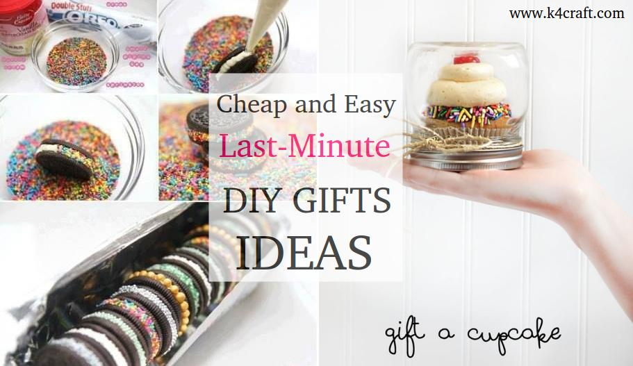 12 Cheap And Easy Last Minute Diy Gifts Ideas K4 Craft