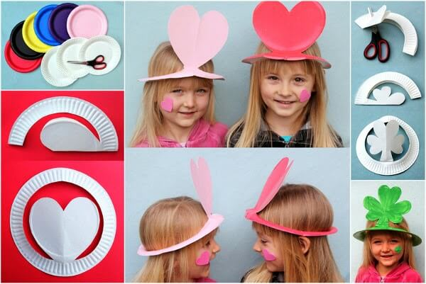 Beautiful Sunhat for kids from paper plate for kids