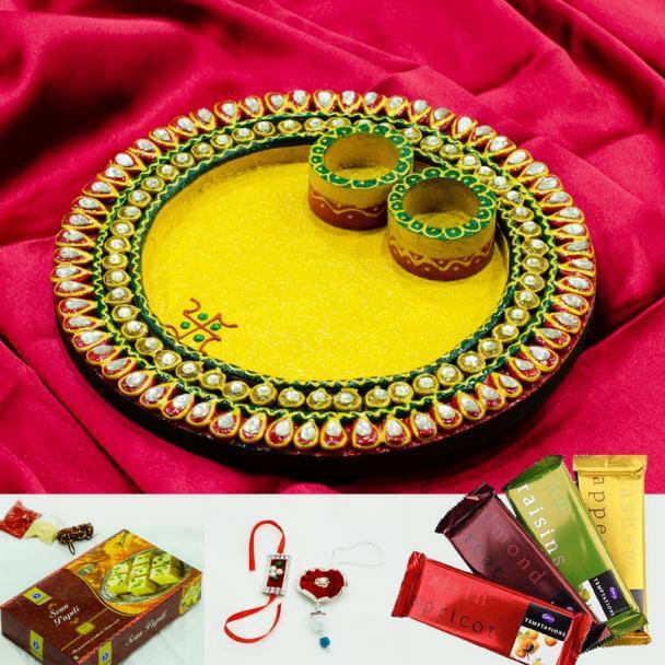 15 best ways to decorate thali for rakhi rakshabandhan k4 craft beautiful rakhi thali decoration ideas junglespirit Choice Image