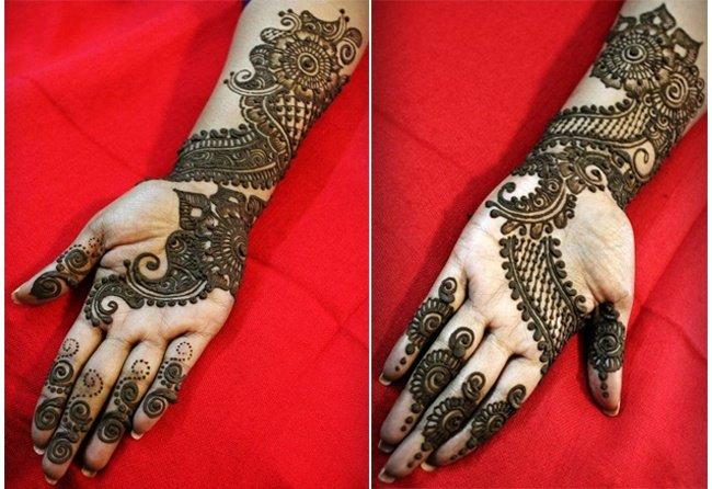 Mehndi For Dp : Stylish mehndi designs for durga puja navratri