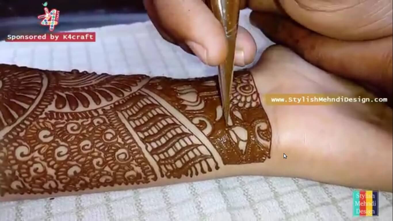 Full Hand Latest Bridal Mehndi Design - Step by step (Tutorial)