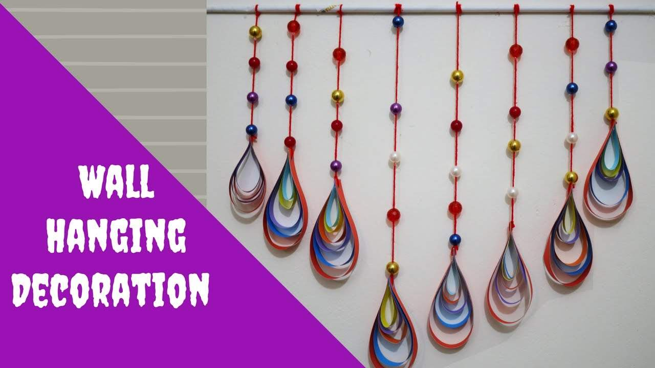 20 diy easy wall hanging craft ideas tutorials k4 craft for Art and craft for decoration