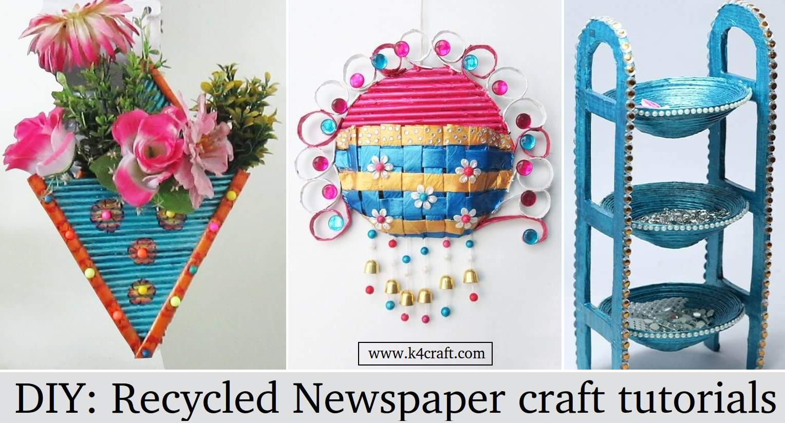 Diy Recycled Newspaper Craft Video Tutorials K4 Craft