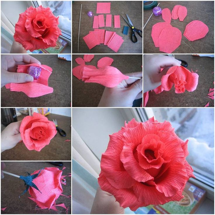 Paper flower craft step by step selol ink paper mightylinksfo