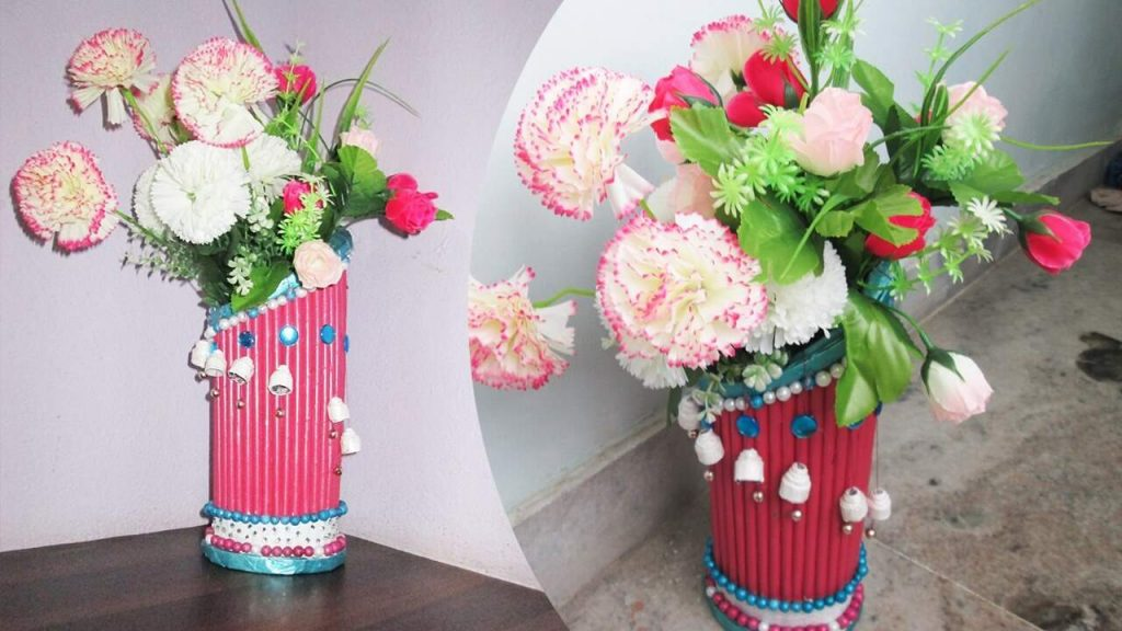 Newspaper Flower Vase Making Best Out Of Waste With Newspaper K4