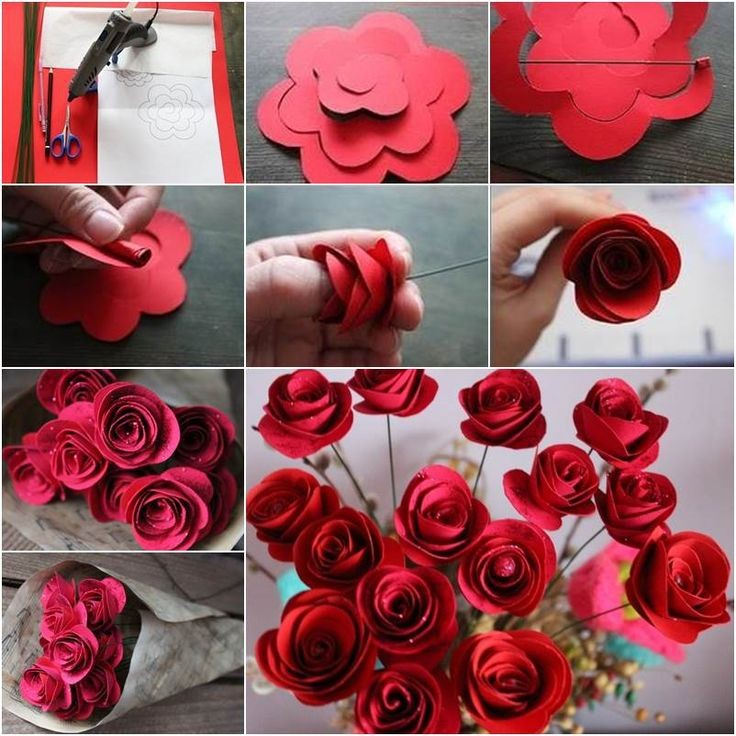 Paper flowers diy in craft work with paper flowers step by step k4 promote your art with k4craftfree promotion mightylinksfo