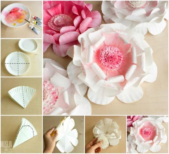 Easy stunning paper plate flower k4 craft 0 mightylinksfo
