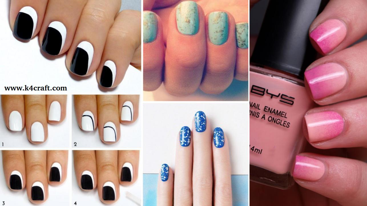 15 Simple Nail Art Designs For Lazy Girls Step By Step K4 Craft