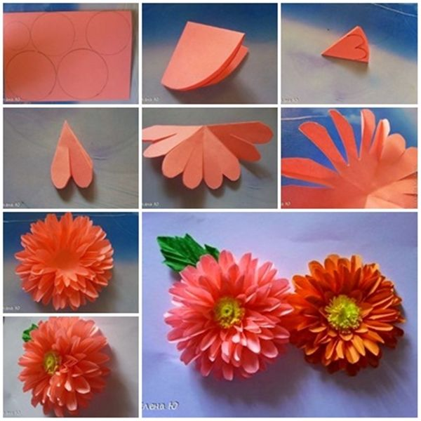 DIY Scrapbook Paper Craft Flowers Step By