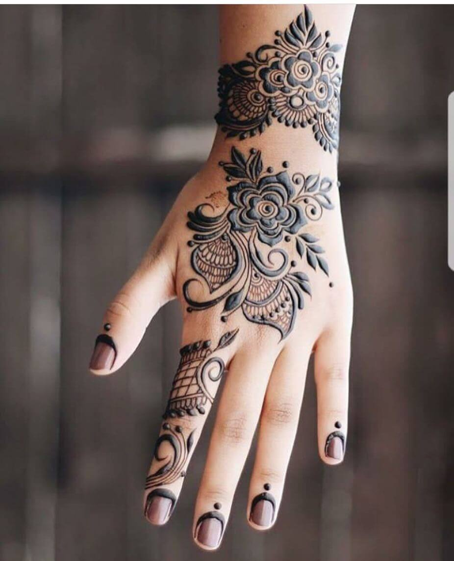 Mehndi Flower Chadar : Stylish mehendi designs for hands to inspire you k