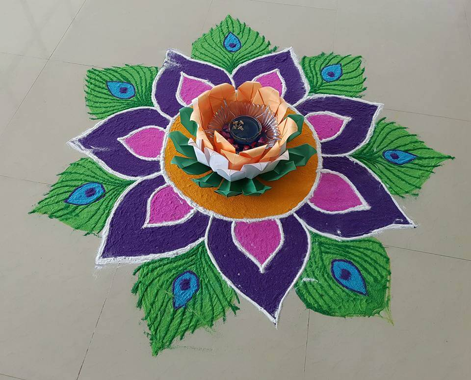 Independence Day And Republic Day Rangoli Design 18 K4 Craft