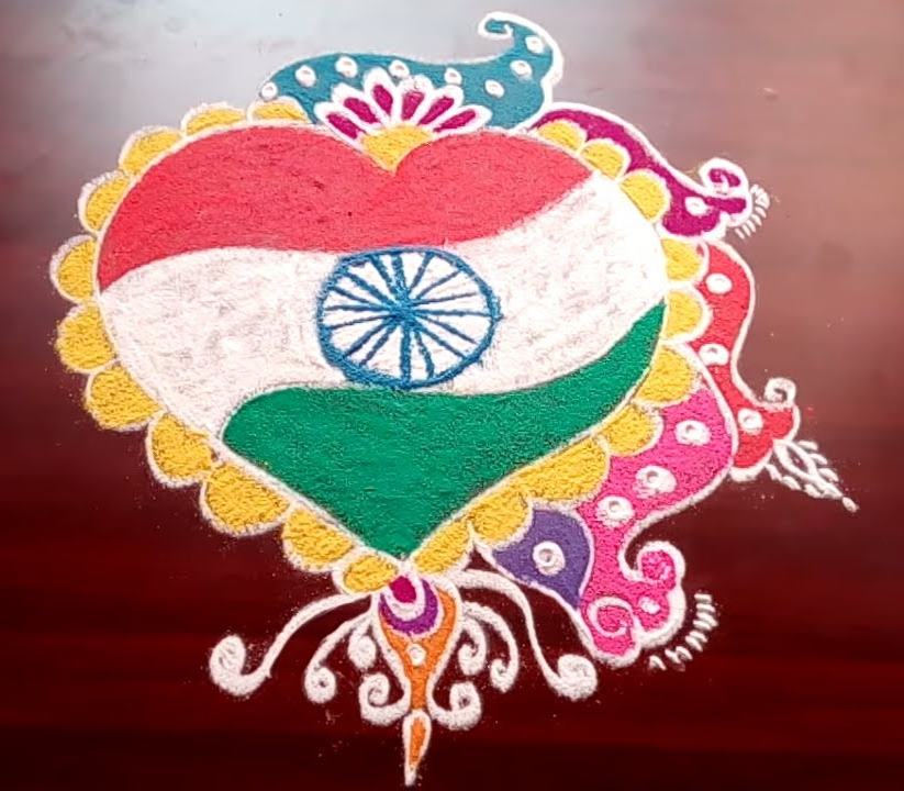 Independence Day And Republic Day Rangoli Design 2 K4 Craft