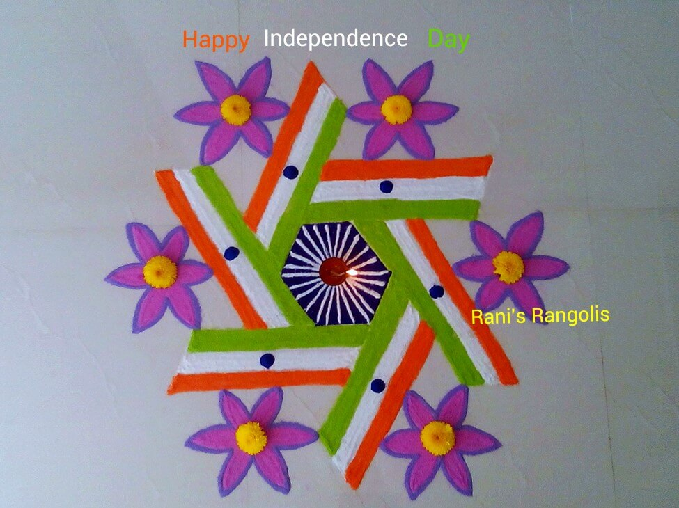 Card Making Ideas For Republic Day Part - 39: 100+ Beautiful Rangoli Design For India Independence Day And ...
