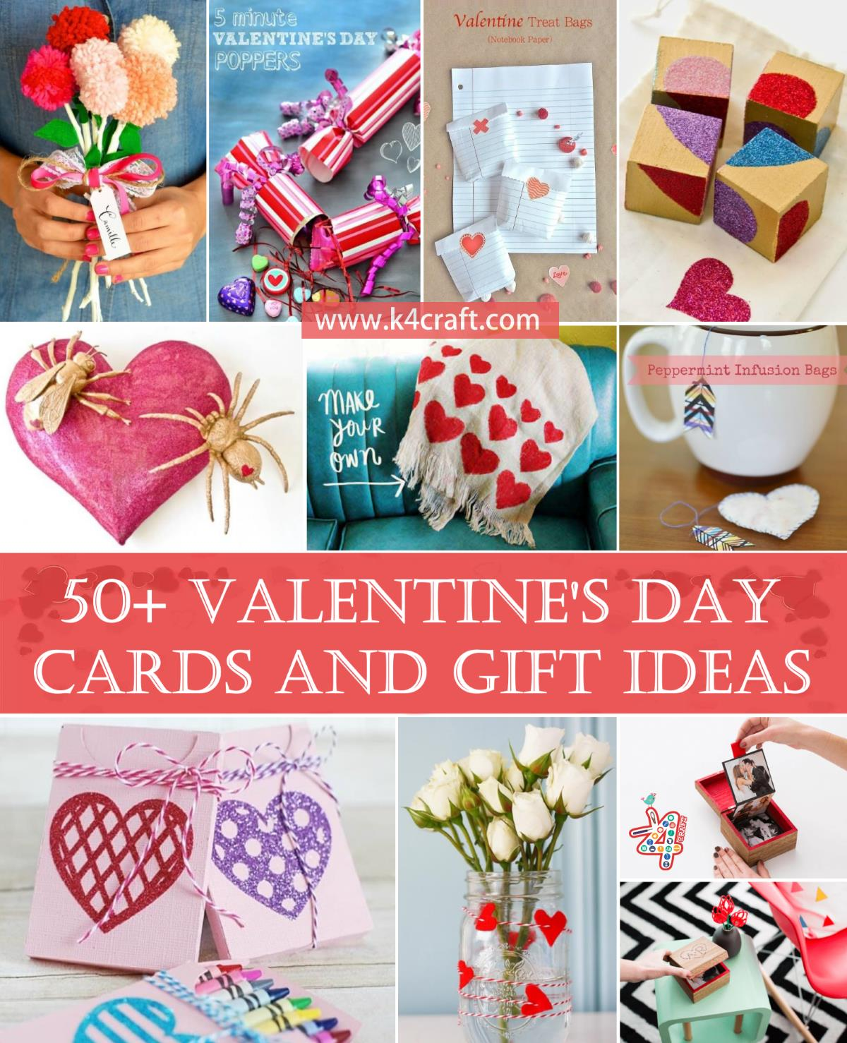50 Valentine S Day Handmade Cards And Gift Ideas Step By Step