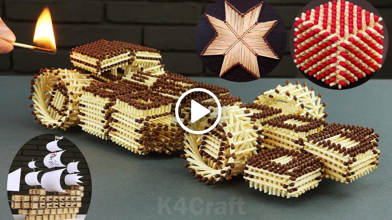 Diy Projects Matchstick Craft Video Tutorials K4 Craft