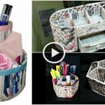 Video Tutorials : Make Newspaper Desk Organizer at Home