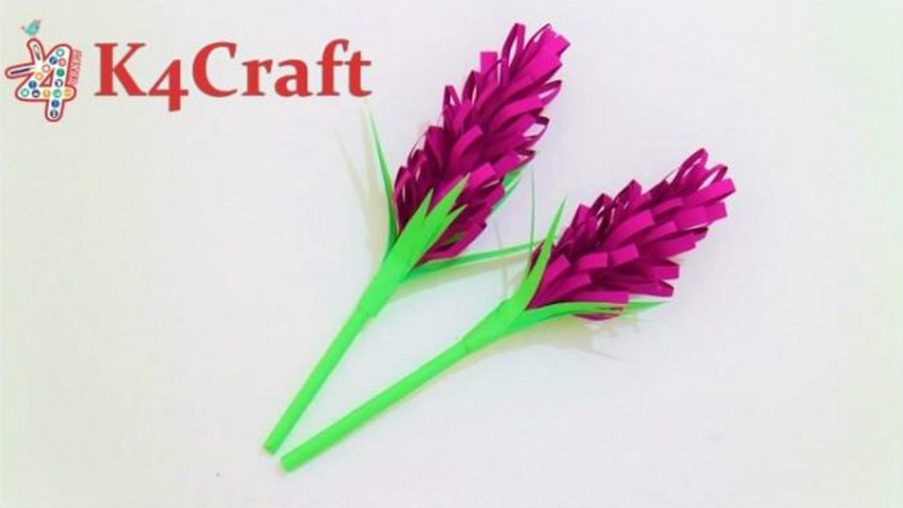 Paper Lavender How To Make Beautiful Paper Lavender K4 Craft