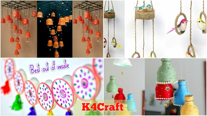Best Out Of Waste Wall Hangings To Decorate Your Home K4 Craft
