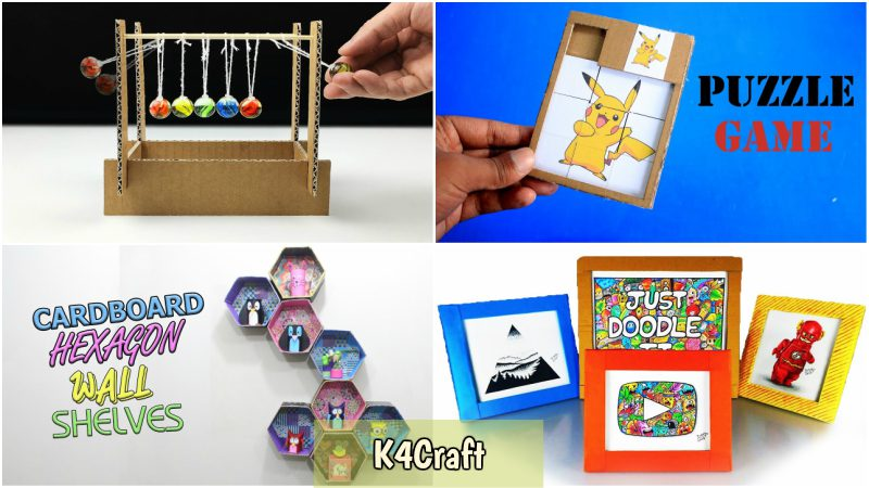 Cardboard Craft Ideas For Kids K4 Craft