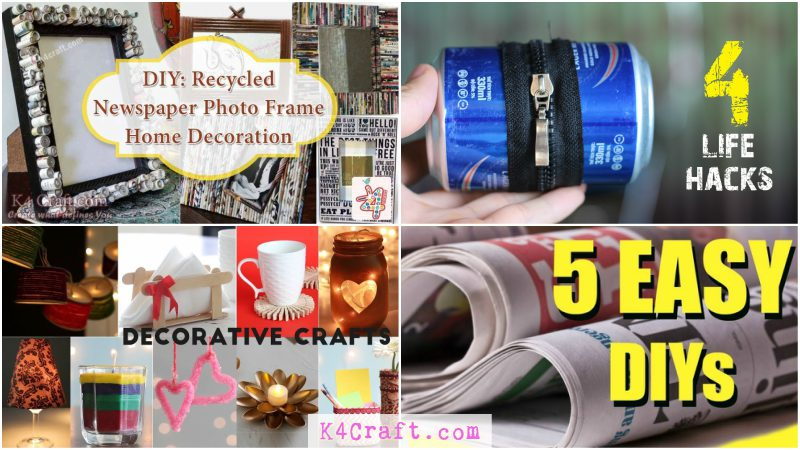 Creative Life Hacks Using Recycled Items K4 Craft