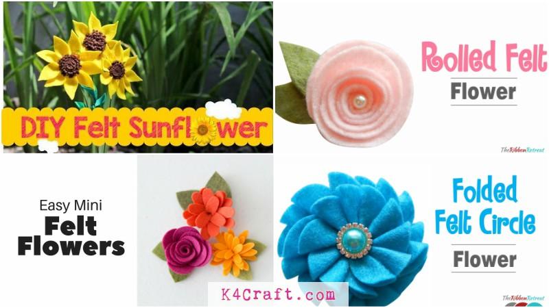 Easy Diy Felt Flower Tutorials To Create Beautiful Crafts K4 Craft