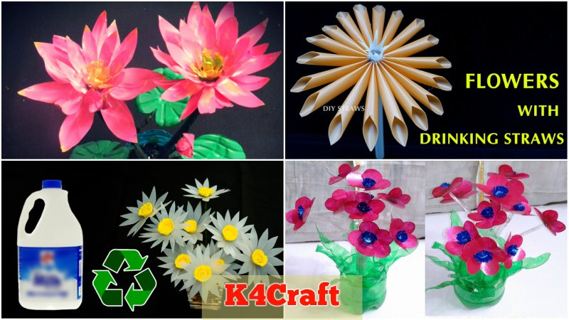 Learn To Make Flowers Using Waste Materials K4 Craft