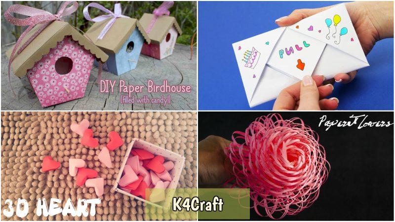 Paper Craft Ideas To Gift K4 Craft
