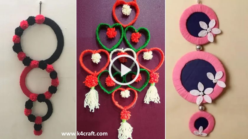 Wall Hanging Craft Ideas Using Woolen K4 Craft